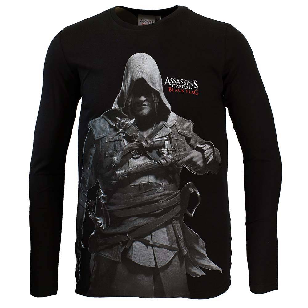 Assassin's Creed Assassins Creed Black Flag Longsleeve Zwart