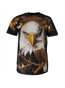 Rock Eagle / Biker T-Shirts Rock Eagle All over Print Eagle T-shirt