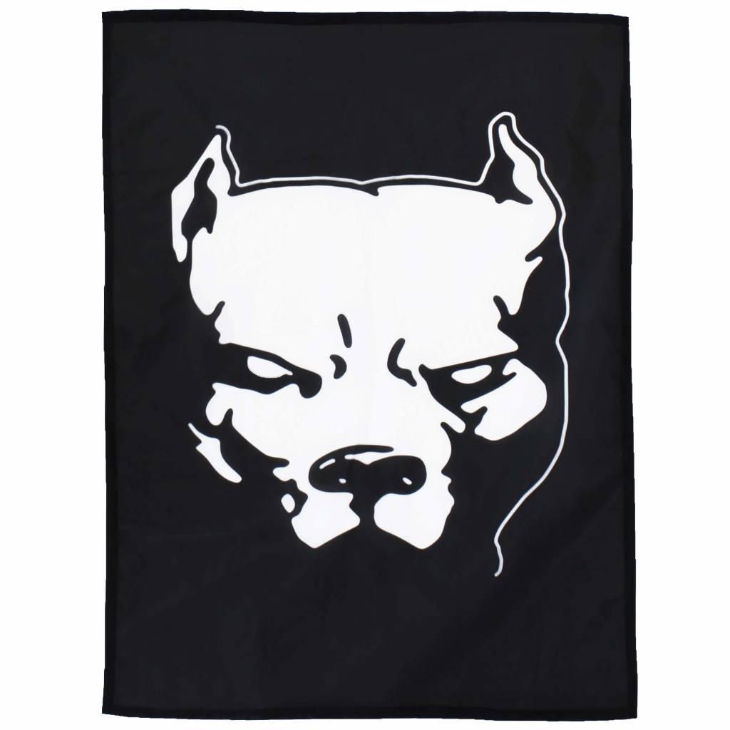 Hardcore Pit Bul Pitbull Vlag Zwart/Wit