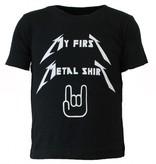 Rock Eagle / Biker T-Shirts My First Metal Shirt  Kinderen Baby T-shirt Zwart/Wit