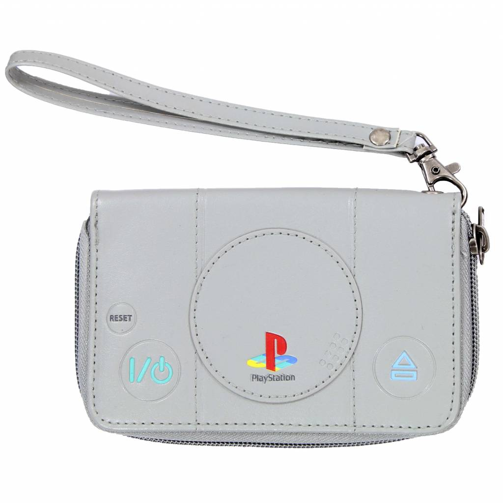 PlayStation  Playstation 1 Console Wallet with Zipper Grey