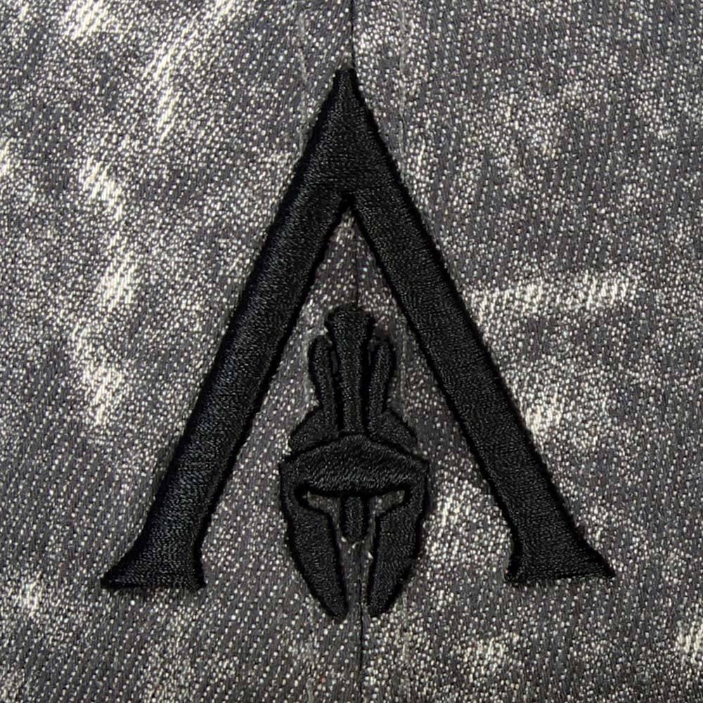 Assassin's Creed Assassin's Creed Odyssey Apocalyptic Spartan Helmet Logo Snapback Cap Grey/Black