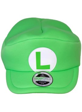 "Super Mario Bros Nintendo Super Mario Luigi ""L"" Classic Shaped Cap Hat Adults"