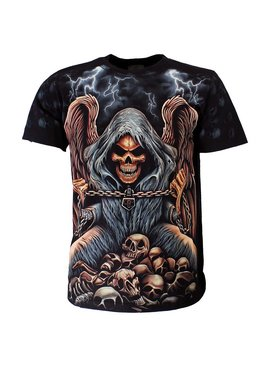 Rock Eagle / Biker T-Shirts Reaper op stapel Skulls T-Shirt