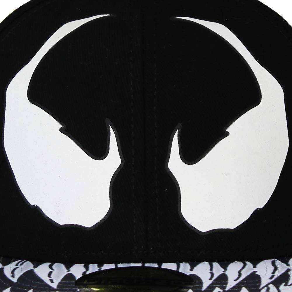 Marvel Comics: The Avengers, Captain America, Spider-Man, The Hulk, Thor, Black Panther, Deadpool, Ant-Man, Iron Man, The Punisher Spiderman Venom Snapback Cap Pet Zwart/Wit