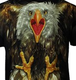 Rock Eagle / Biker T-Shirts Rock Chang Glow in the Dark Attacking Eagle T-Shirt Multicolor