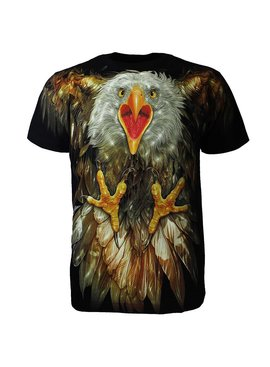 Rock Eagle / Biker T-Shirts Rock Chang Glow in the Dark Attacking Eagle T-Shirt