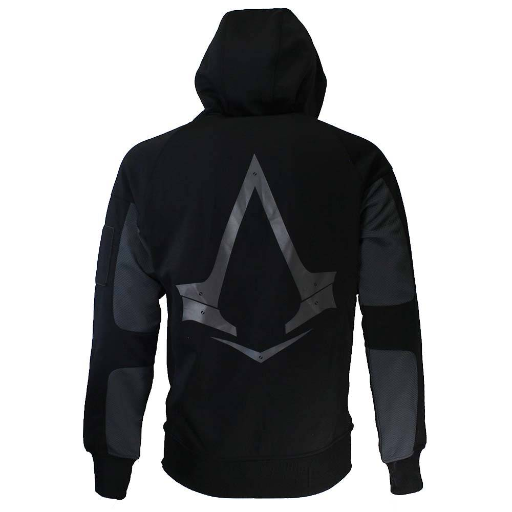Assassin S Creed Syndicate Parkour Zipper Hoodie Grey Black Gold
