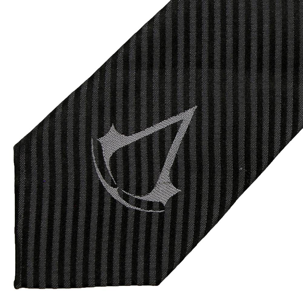 Assassins Creed Assassin's Creed Crest Logo Stropdas Necktie Zwart / Grijs