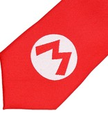 Super Mario Bros Super Mario Big M Badge Necktie Red / White