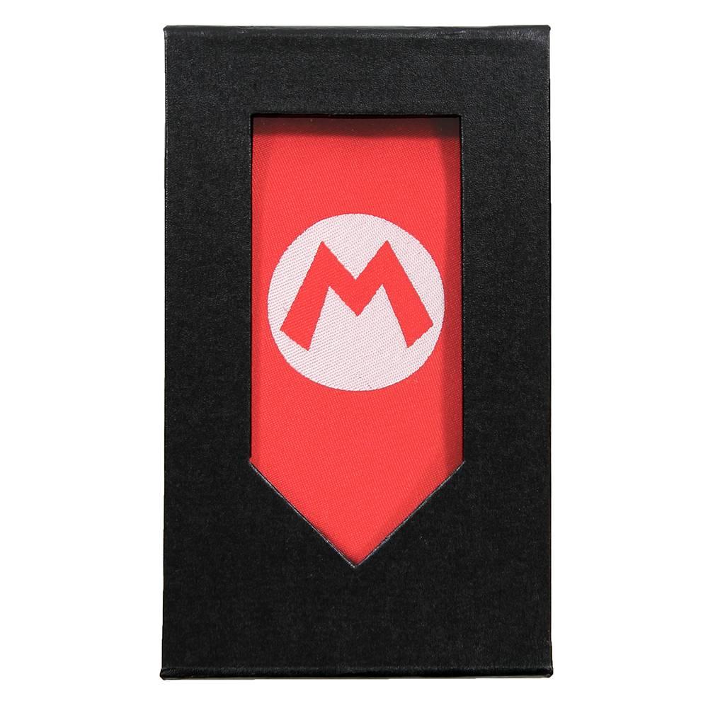 Super Mario Bros Super Mario Big M Badge Stropdas Rood / Wit