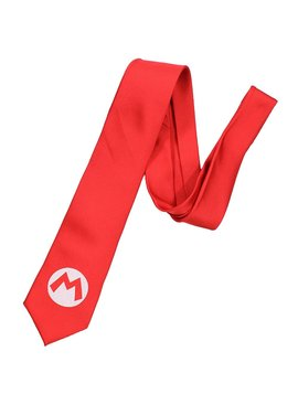 Super Mario Bros Super Mario Big M Badge Necktie