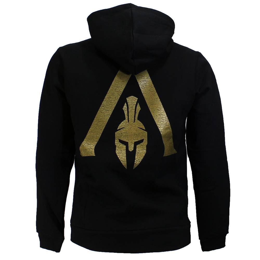 Heren Hoodie Vest.Assassin S Creed Odyssey Spartan Heren Hoodie Vest Zwart Goud