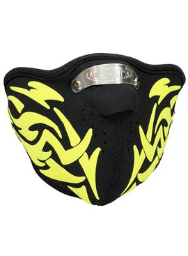 Facemasks Facemask Skimask Yellow Tribal Print