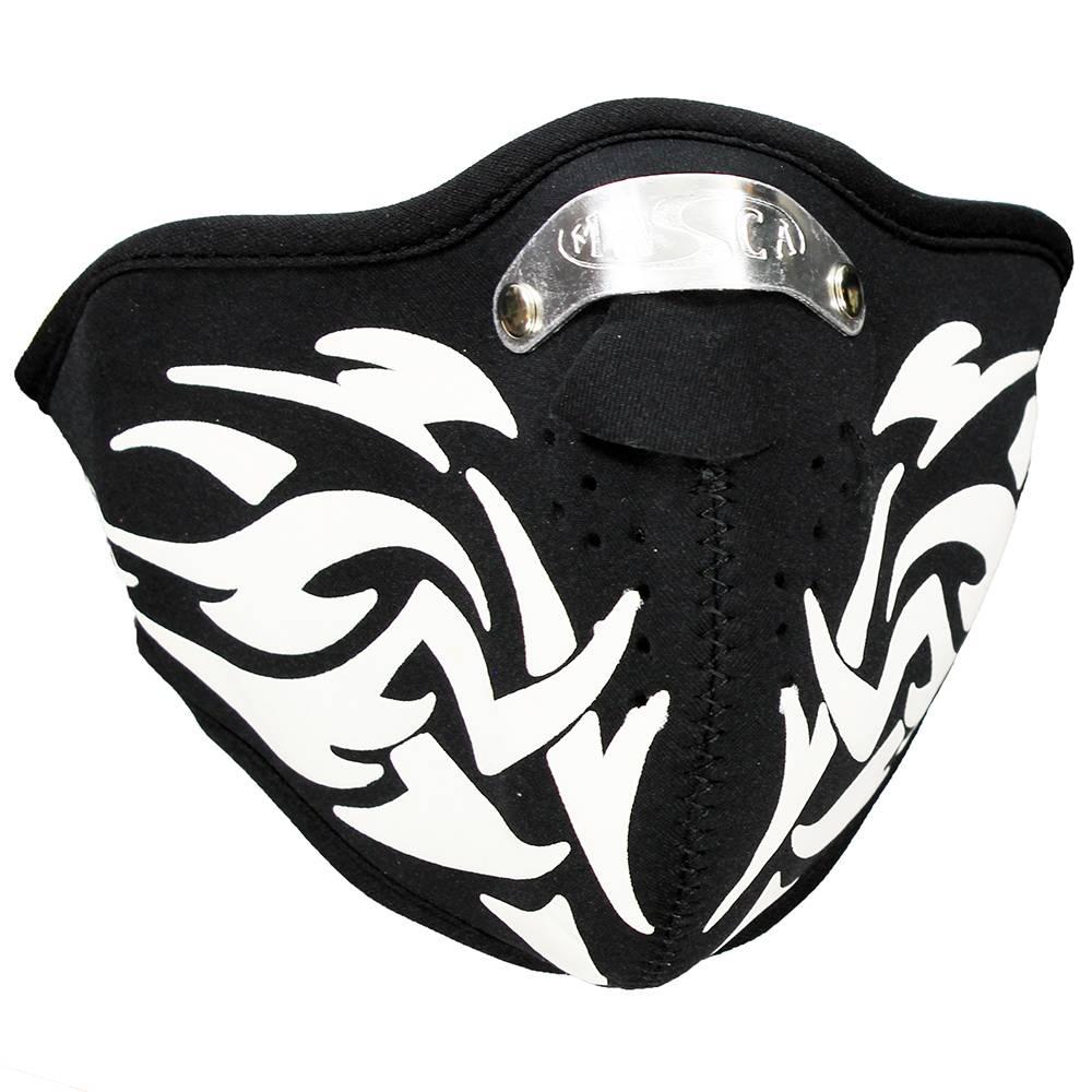 Facemasks Mondkap Skimasker Tribal Print Zwart / Wit