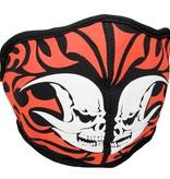 Facemasks Facemask Skimask Flame Tribal SkullPrint Black / White / Red