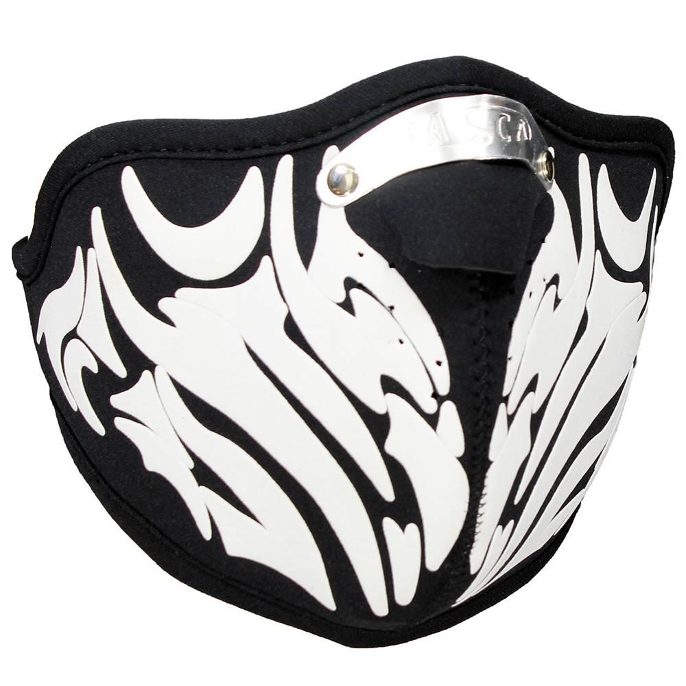 Facemasks Facemask Skimask Tribal Dragon Print Black / White