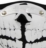 Facemasks Facemask Skimask Skeleton Teeth Print Black / White