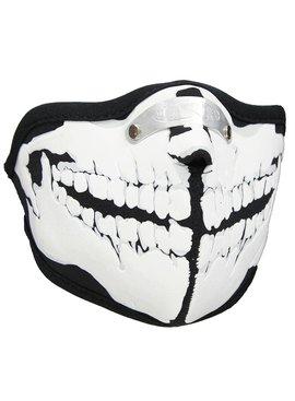 Facemasks Mondkap Skimasker Skelet Tanden Print