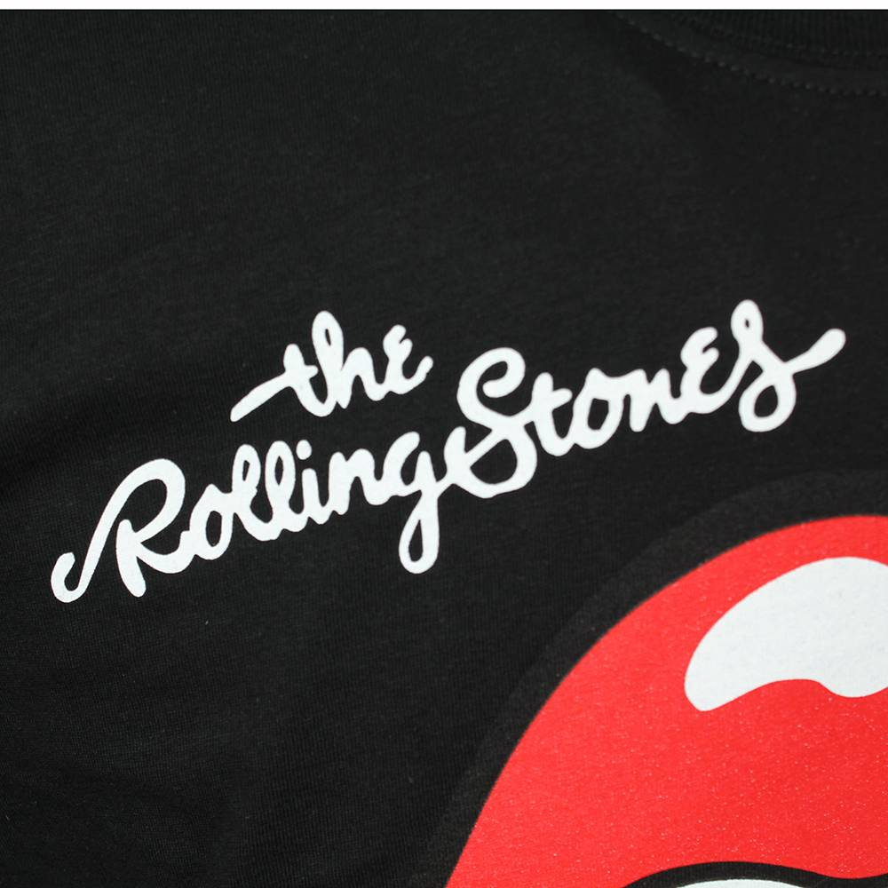 Metal & Rock The Rolling Stones Tongue Logo T-shirt Black / Red