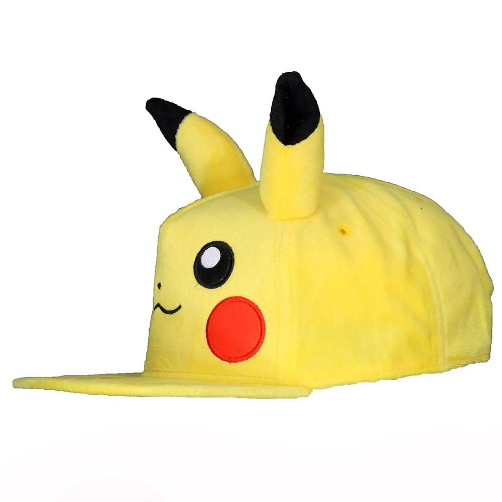 Pokémon Pokémon Pikachu Pluche Snapback Cap Pet met Oren Geel