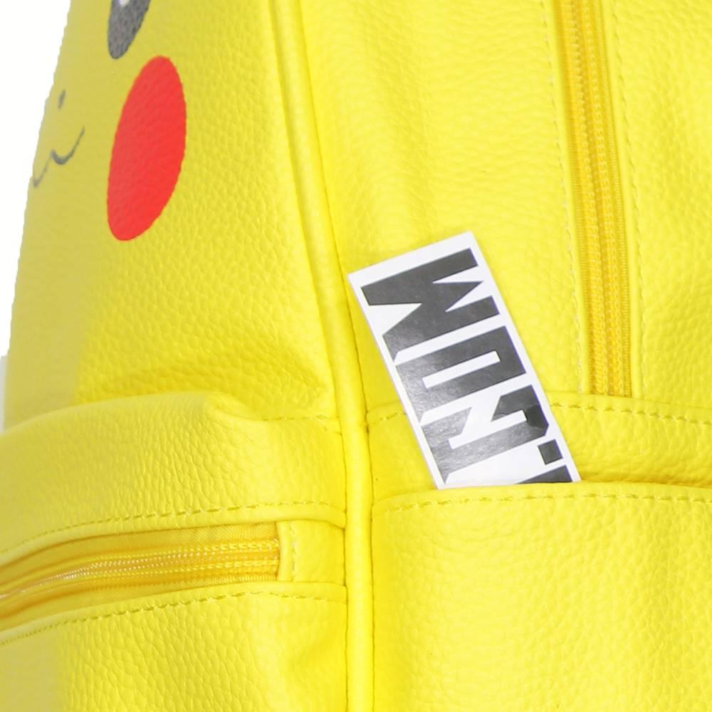 Pokémon Pokémon Pikachu PU Leather Backpack with Ears Yellow