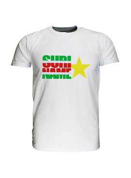 Fun & Fashion Republic of Suriname Flag T-Shirt with Star