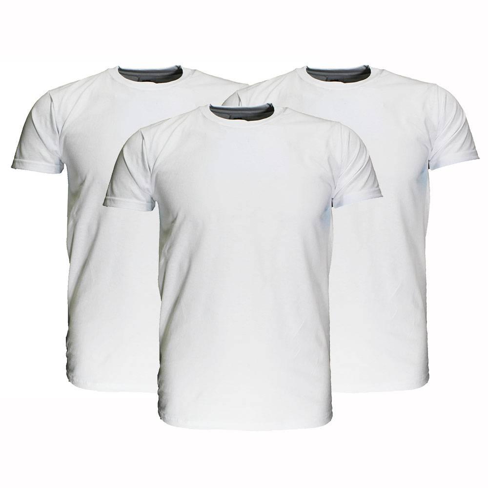 Basics Fruit Of The Loom  Blanco Katoenen T-Shirts 3 stuks pakket Wit
