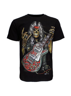 Rock Eagle / Biker T-Shirts Skull Rock Guitar Metal T-Shirt