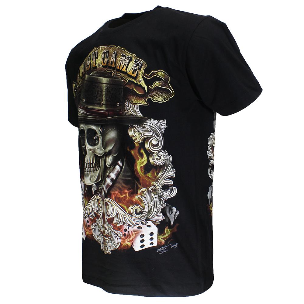 Rock Eagle / Biker T-Shirts Last Game  Skull 3D Glow in the Dark T-Shirt