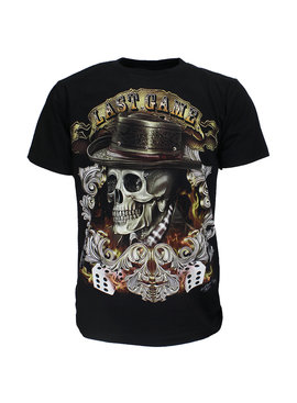 Metal & Rock Last Game  Skull Glow in the Dark T-Shirt