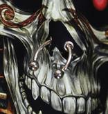 Rock Eagle / Biker T-Shirts Pharao Skull 3D T-Shirt Glow in The Dark Zwart