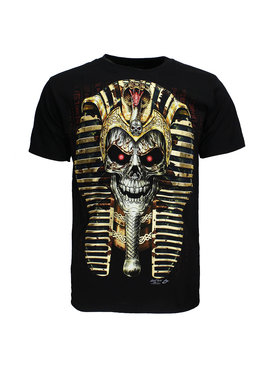 Rock Eagle / Biker T-Shirts Pharao Skull 3D T-Shirt Glow in The Dark