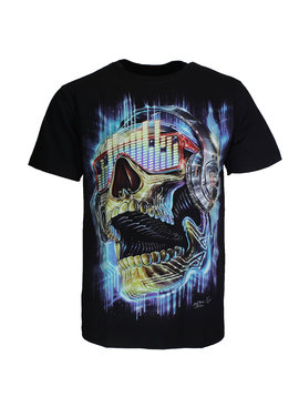 Rock Eagle / Biker T-Shirts Skull Music 3D Colors T-Shirt