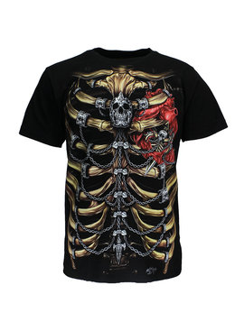 Rock Eagle / Biker T-Shirts Skeleton Chest T-Shirt