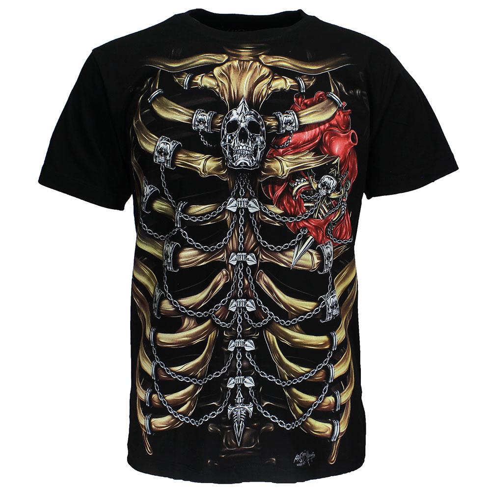 Rock Eagle / Biker T-Shirts Skeleton Chest T-Shirt Glow in the Dark