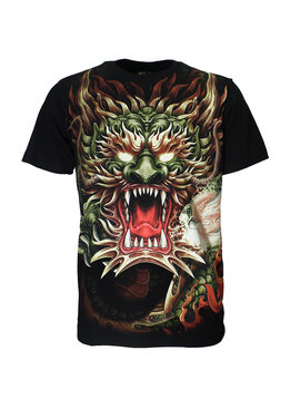 Rock Eagle / Biker T-Shirts Fantasy Dragon T-Shirt Zwart