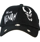 Marvel Comics: The Avengers, Captain America, Spider-Man, The Hulk, Thor, Black Panther, Deadpool, Ant-Man, Iron Man, The Punisher Marvel Comics Venom Grunge Cap with Patches Black