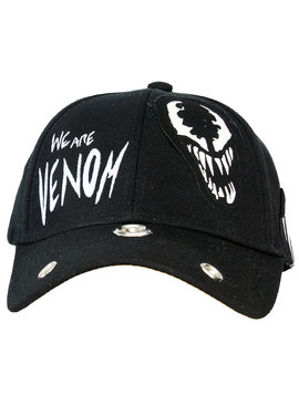 Marvel Comics: The Avengers, Captain America, Spider-Man, The Hulk, Thor, Black Panther, Deadpool, Ant-Man, Iron Man, The Punisher Marvel Comics Venom Grunge Cap with Patches
