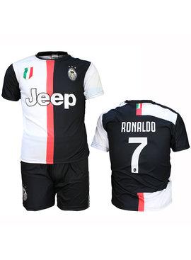 Juventus Replica Cristiano Ronaldo CR7 Home Kit Football T-Shirt + Shorts Set Season 2019/2020
