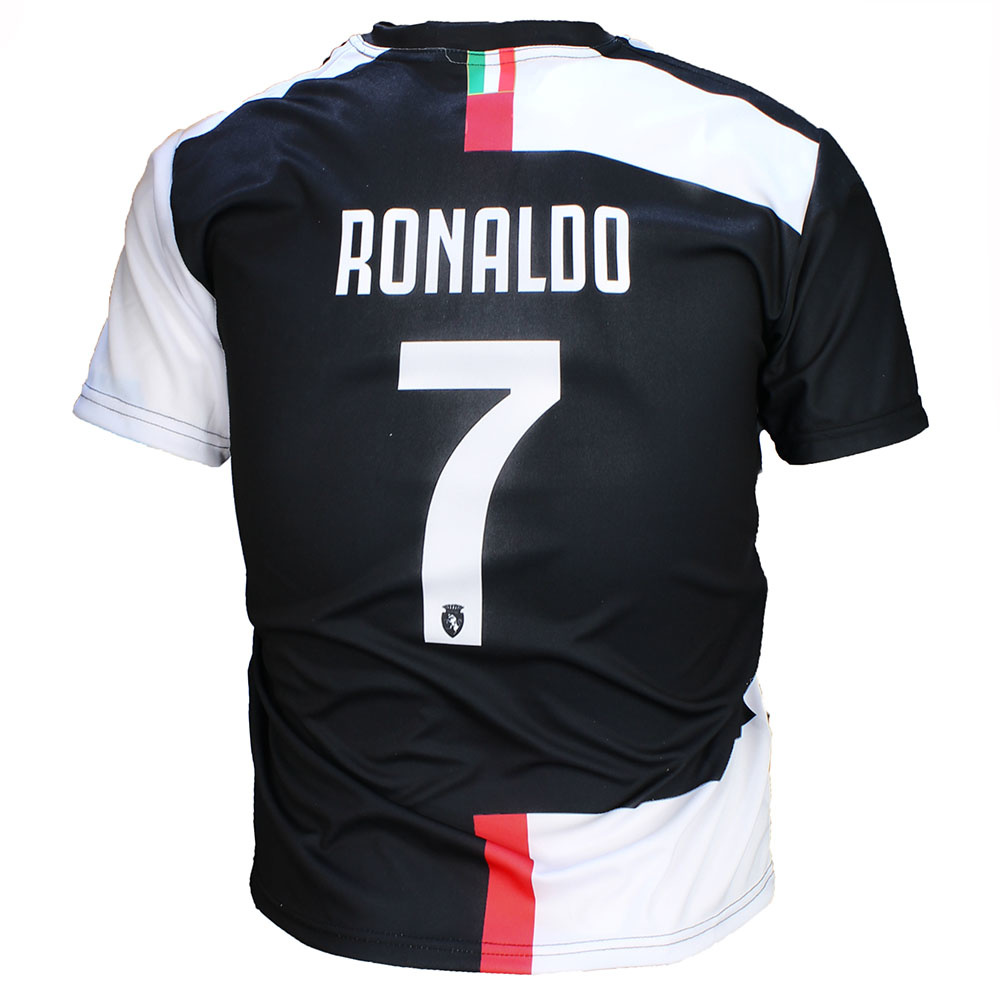Voetbal Kleding / Football Clothing Juventus Replica Cristiano Ronaldo CR7 Home Football T-Shirt Season 2019/2020 Black / White