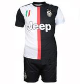 Voetbal Kleding / Football Clothing Juventus Replica Matthijs de Ligt Home Kit Football T-Shirt + Shorts Set Season 2019/2020 Black / White