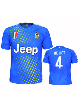 Voetbal Kleding / Football Clothing Juventus Replica Matthijs de Ligt Alternative 3rd Football T-Shirt Season 2019/2020