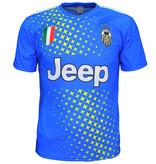 Voetbal Kleding / Football Clothing Juventus Replica Matthijs de Ligt Alternatief 3e Voetbal T-Shirt Seizoen 2019/2020 Blauw / Geel