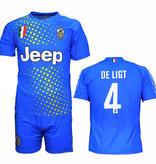 Voetbal Kleding / Football Clothing Juventus Replica Matthijs de Ligt Alternative 3rd Soccer Jersey Football T-Shirt + Shorts Set Blue / Yellow