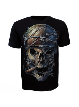 Rock Eagle / Biker T-Shirts Pierced Skull Rock 3D Glow in the Dark T-Shirt