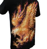 Rock Eagle / Biker T-Shirts Phoenix Glow in the Dark T-Shirt Zwart