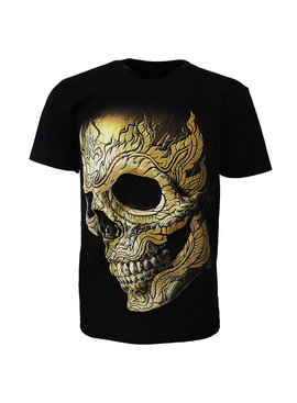 Rock Eagle / Biker T-Shirts Pierced Skull Rock T-Shirt 3D Glow in The Dark