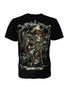 Rock Eagle / Biker T-Shirts Pirate King Undead Glow in the Dark T-Shirt
