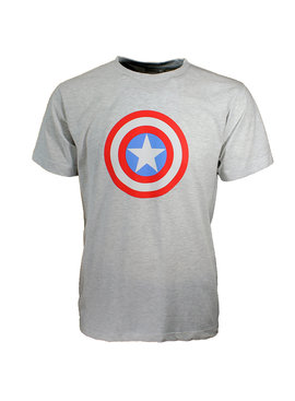 Marvel Comics: The Avengers, Captain America, Spider-Man, The Hulk, Thor, Black Panther, Deadpool, Ant-Man, Iron Man, The Punisher Marvel Comics Captain America Short Sleeve Logo T-Shirt